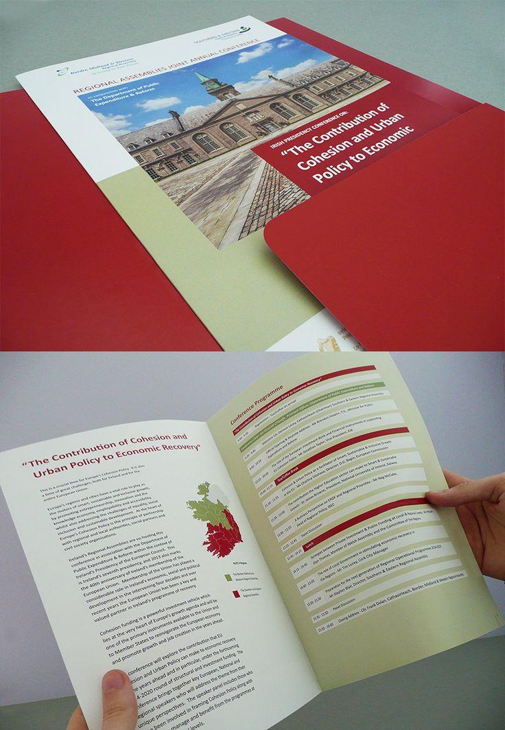 Irish Presidency Conference brochure & folder.