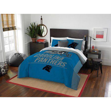 NFL Carolina Panthers Draft Bedding Comforter Set, Blue
