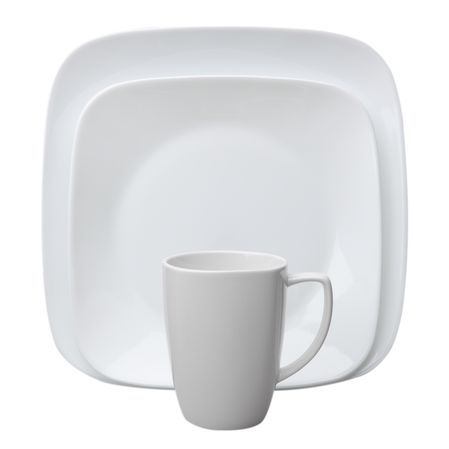 DescriptionCorelle® Square™ dinnerware features sleek, squared shapes with rounded corn...