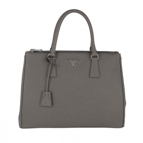 Prada Handle Bag - Galleria Tote Bag Saffiano Lux Marmo - in grey -... (£1,585) ❤ liked on Polyvore featuring bags, handbags, tote bags, grey, zip tote, gray tote bag, tote handbags, grey tote and grey handbags