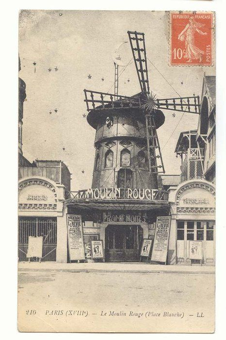 Le Moulin Rouge, been there a long time ago, wasnt old enough to go inside but still.
