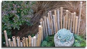 Bamboo edging, one of many ideas from Handmade Garden Projects. Photo by Allan Mandell.
