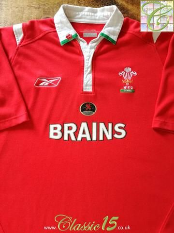 Official Reebok Wales home rugby shirt from the 2004/2005 season.