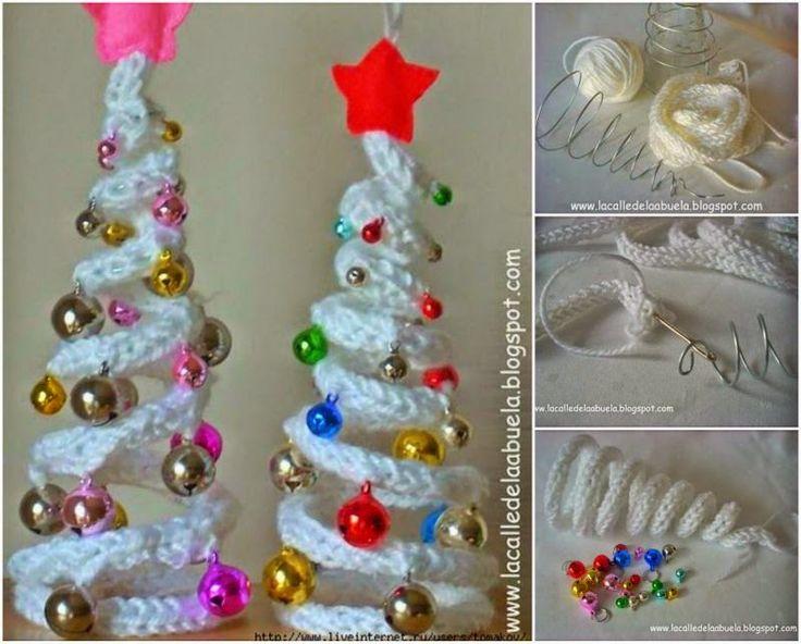 DIY IDEAS: DIY Crochet Christmas Tree with Ornaments