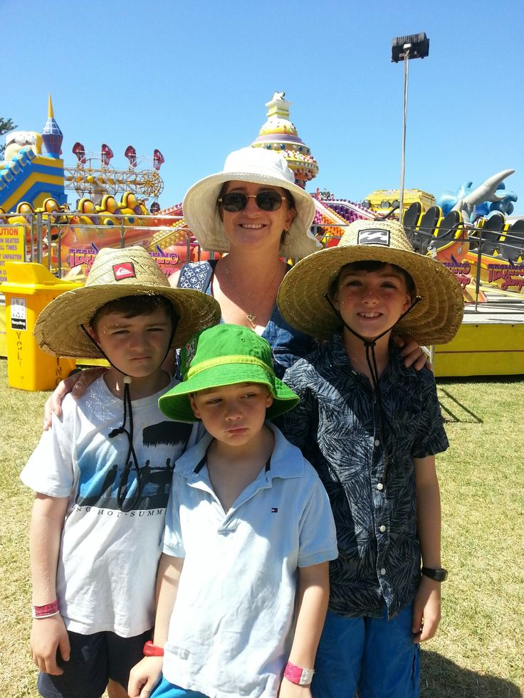 Patrick,  Nicholas, AnnMaree and William Campbell at the sunny Kiama Show