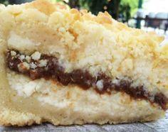 Tarta de ricota crocante rellena de dulce de leche