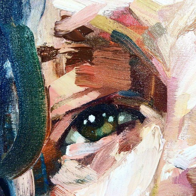 andrew salgado detail- Looked at a few of these in detail,especially how he creates the eyes in his portraits. Used in my Fp.