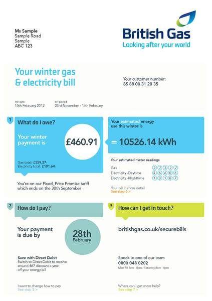utility bill template