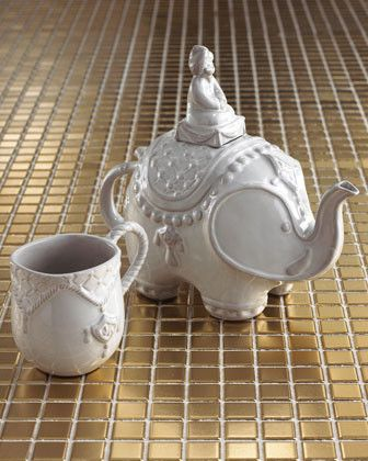 116 best tea for two images on pinterest tea time dishes and cups - Jonathan adler elephant mug ...