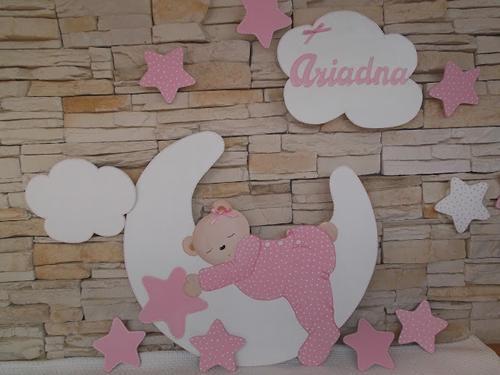 Letras de madera para decorar la habitaci n del beb - Decoracion para habitacion de bebe nina ...