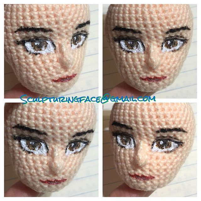 Painted original #amigurumi #crochet #patterns by #Sculpturingface  Seems quite successful
