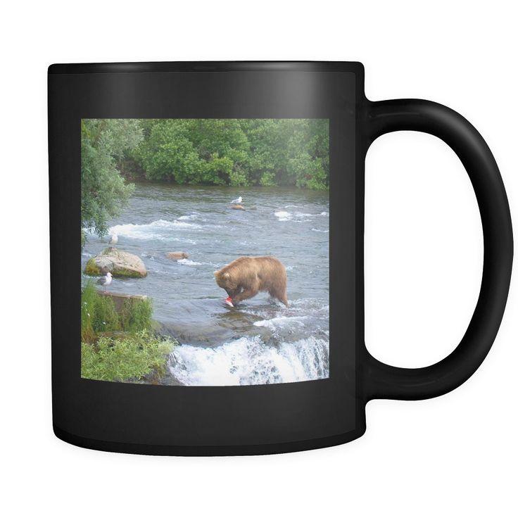 Alaskan Brown Bear 11oz Black Mug