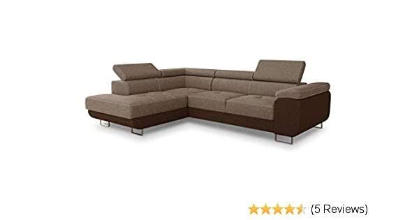 Ecksofa Caris Masse Breite 273 Cm Tiefe 203 Cm Hohe 90 Cm Schlafflache 195x123 Cm Details Holzkonstruktion Spannplatte Sitzflach In 2020 Sofa Braunes Sofa Couch