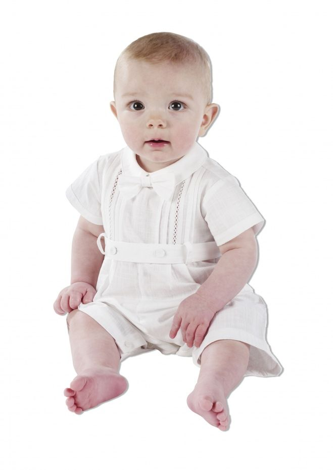 Boy Christening Outfits | ... Christening Romper | Boys Christening Outfits | Little Sweethearts ...