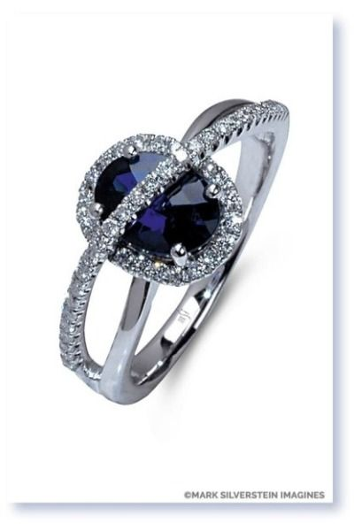 Beautiful blue sapphire ring from Mark Silverstein Imagines: http://www.stylemepretty.com/2014/11/01/30-of-our-most-coveted-engagement-rings/