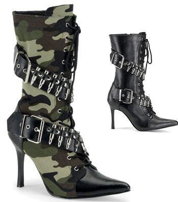 Military BootsHigh Heel Boots, Boots Size, Army Boots, Camouflage Heels, Boots Lov, Camo Camoflauge, High Heels, High Boots, Heels Boots