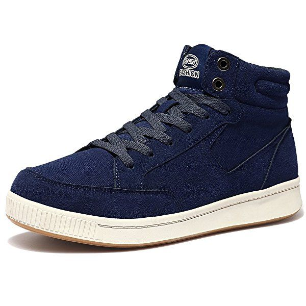 VILOCY Herren Damen Segeltuch Knöchel Stiefel Winter Pelz Gefüttert Draussen Schlittschuh Sport Schnee Sneaker Schuhe Blau 42: Amazon.de: Schuhe & Handtaschen