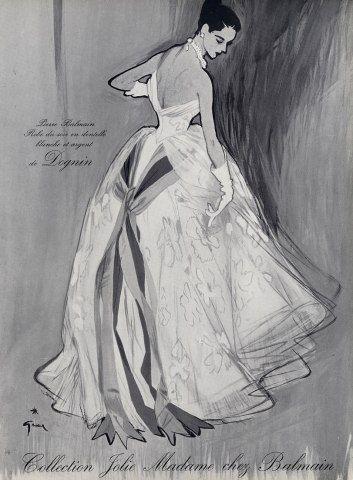 Vintage Balmain illustration by Rene Gruau