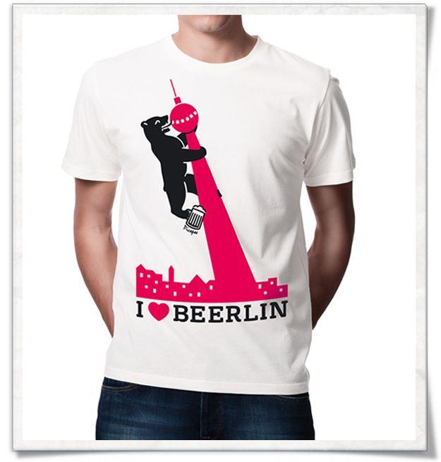 Ich liebe Berlin ;)  I love Berlin /  Bier / Beer /  /  TV Turm Alexanderplatz / Berlin TV Tower / /  Fair / Biobaumwolle / Männergeschenke #berlin #Fernsehturm #bier #beer