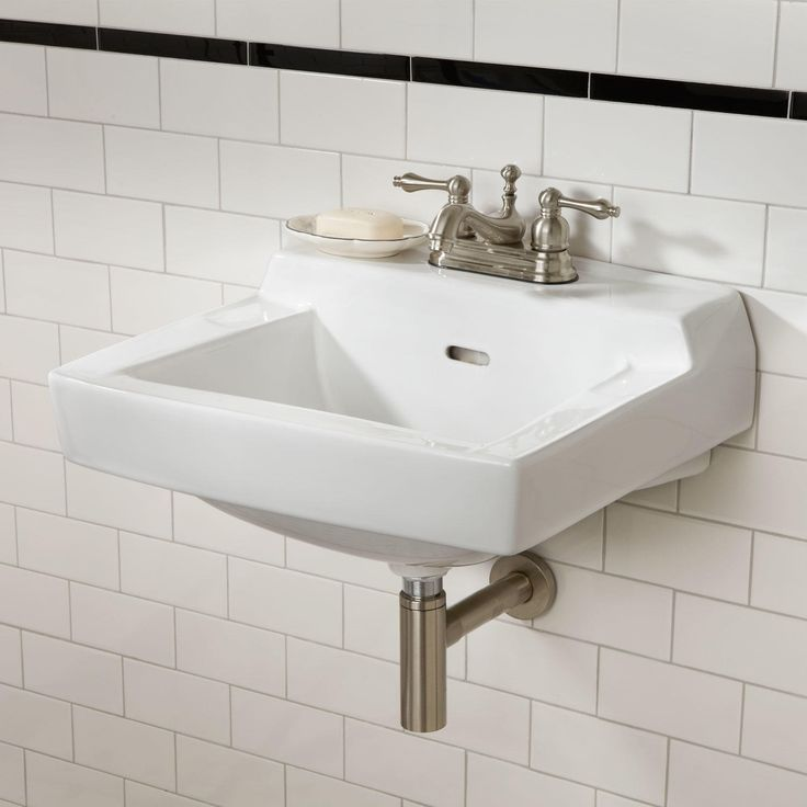 Photo Of Bathroom Wall Mount Sink White Ceramic With Faucet Bathroom Wall Mount Sink In Bathroom Category
