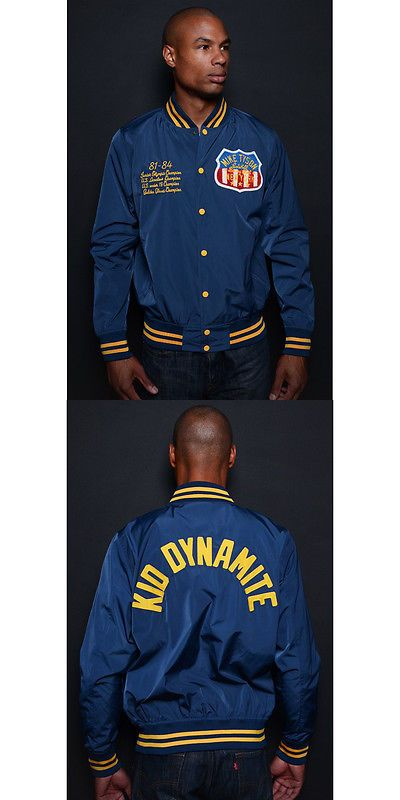 Jackets 179771: Roots Of Fight Tyson Kid Dynamite Lightweight Stadium Jacket - Navy BUY IT NOW ONLY: $79.95