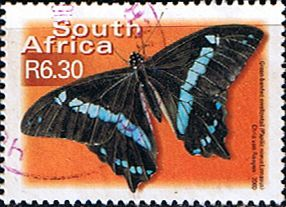South Africa Butterflies SG 1228 Narrow blue-banded swallowtail Fine Used SG 1228 Scott 1196 Condition Fine Used Other South African Stamps HERE