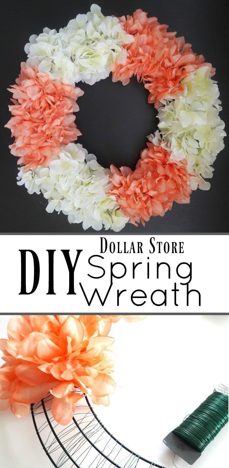 Quick and Simple DIY Spring Wreath