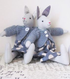 winter bunnys by Helen Phillips