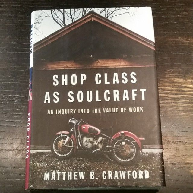 Fantastic book exploring the value of work (not jobs). In this age of clicking and observing and consuming, it's important to remember the value of creating something real, whether that is a motorcycle or a work of art. Whether it lasts or not. Kevin loved this one! (at Open Books)