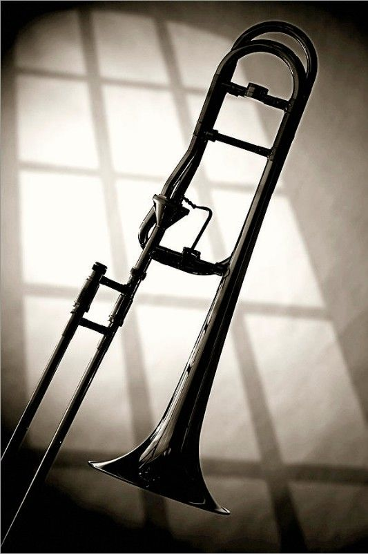 Trombone silhouette and window by MK Miller | Jazz and The ...
