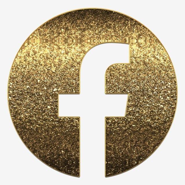 Facebook Logo Png In Golden Glitter Luxury Design Png And Psd Facebook Logo Png Logo Facebook Instagram Logo