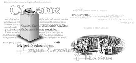 Página del Ministerio para el estudio de la lengua y la literatura española  http://recursostic.educacion.es/humanidades/ciceros/web/ Esta página está pensada para todos los niveles educativos de ESO y Bachillerato