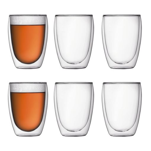Bodum Pavina Double Wall Glasses   Bodum Pavina Double Wall Glasses Keep  Hot Drinks Hot Without Burning Fingers And Cold Drinks Cold Without Messy  ...