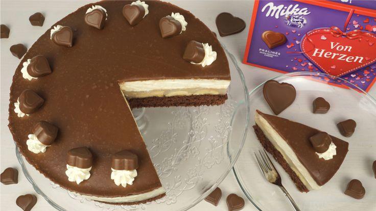 Milka-Herz-Torte