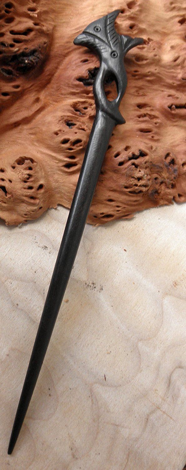 JWL (1) Ebony Handmade Carved 7 Inch Hair Stick Pick Pic Pin Fork - Hawaiian Style -- For more information, visit image link. #hairnourishing