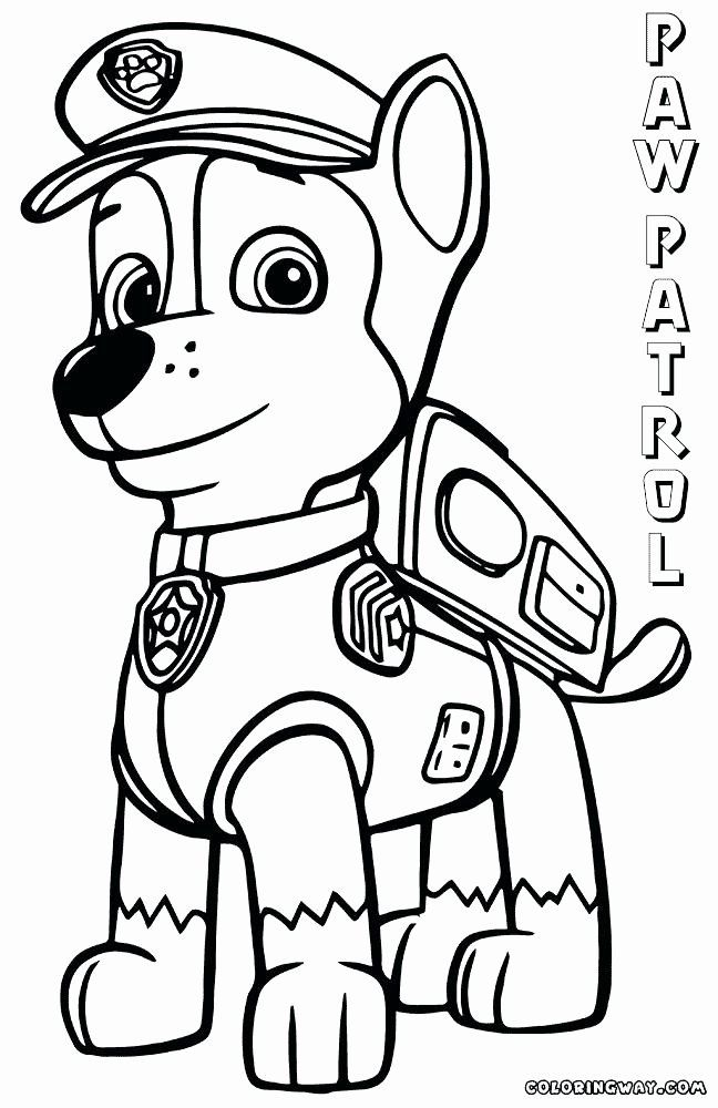 Chase Paw Patrol Coloring Page Elegant Chase Paw Patrol Sketch At Paintingvalley Paw Patrol Coloring Paw Patrol Coloring Pages Marshall Paw Patrol