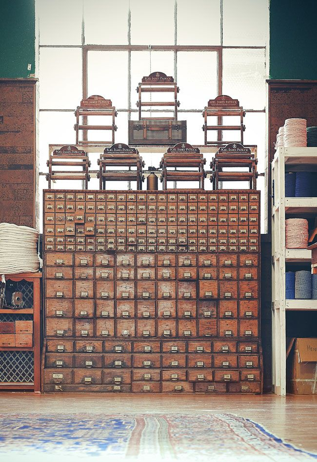 Amazing library card catalog... I have never wanted a piece of furniture so bad in my entire life. I think my heart actually hurts that it isn't for sale.