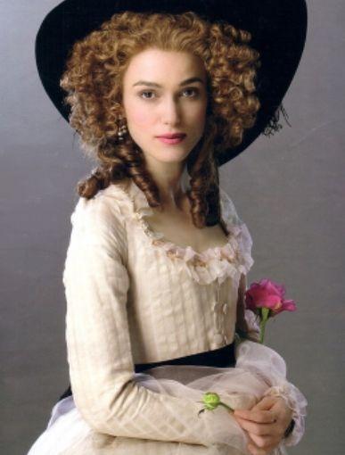 Kiera Knightley as the Duchess Cavendish