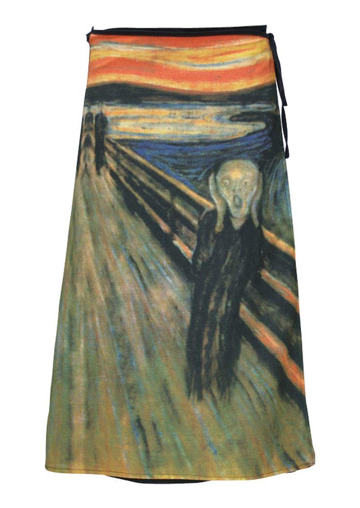 Art Wrap Skirt The Scream
