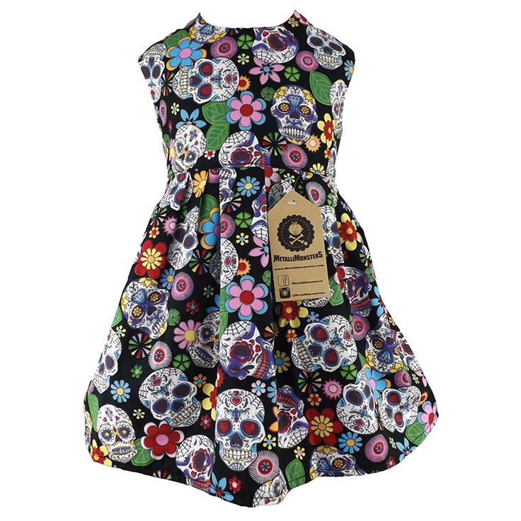 Metallimonsters Sugar Skull dress alternative punk rock metal baby clothes in Clothes, Shoes & Accessories, Kids' Clothes, Shoes & Accs., Girls' Clothing (2-16 Years) | eBay