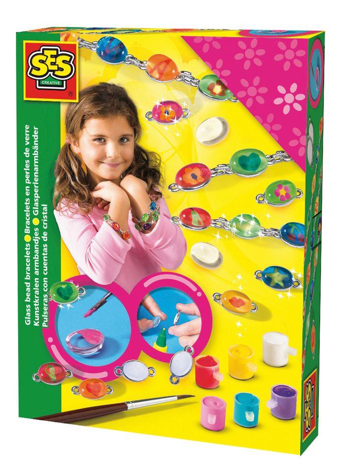 BRANSOLETKI dla dzieci do malowania biżuteria - zabawki kreatywne dla dziewczynek SES Creative