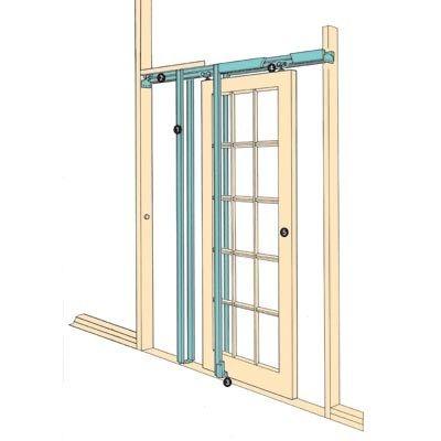 Coburn Hideaway Pocket Door Kit - 760mm Maximum Door Width at IronmongeryDirect