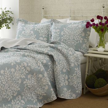 Laura Ashley Rowland 3 Pc Quilt Set King Kohls Com