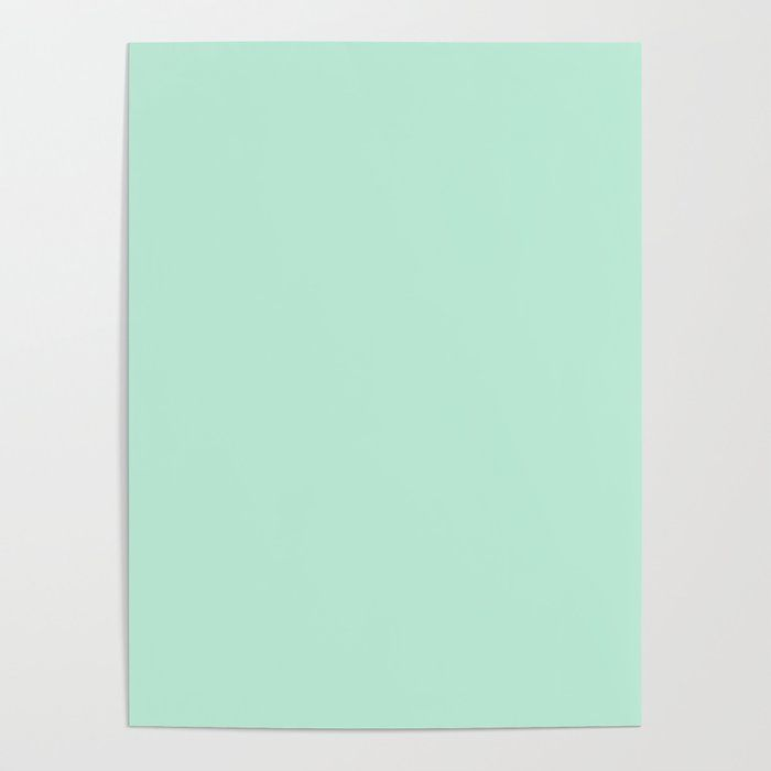 Pastel Mint Green Color Minimalist Poster By Beautifulhomes Society6 In 2020 Minimalist Poster Pastel Poster Pastel Mint