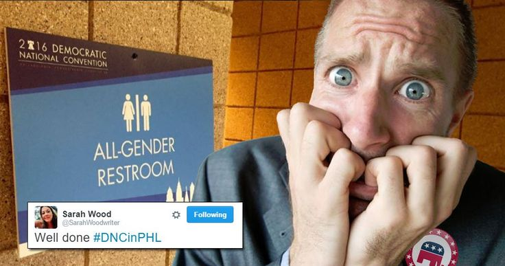 Most folks who saw the DNC's all-gender restroom reacted as any sensible person would: They used them if they needed to. Alas, some GOPers are NOT normal.