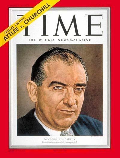 An analysis of how senator joseph mccarthy changed america