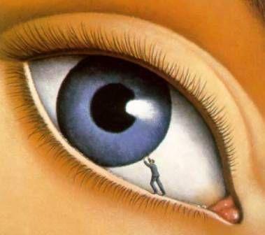"""para el Surrealismo es el """"ojo """" y el concepto de como existe en un estado salvaje. Todo esto nos lleva a como el Surrealismo prescinde de lo conocido y se va a actuar como si fuera la primera vez que se ve o más acertadamente, se mira, revindicando así lo salvaje y primitivo. Por otro lado la pintura va a ser concebida como una ventana, a la cual se asoma para poder ver, a donde va. En cierto modo es una anera de descubrir el verdadero sentido del mundo."""
