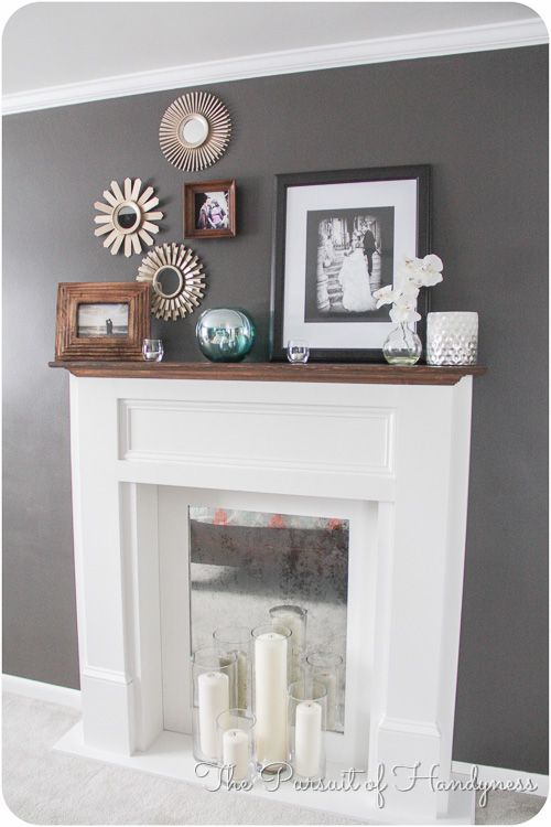 Diy Faux Fireplace - I love how they decorated it