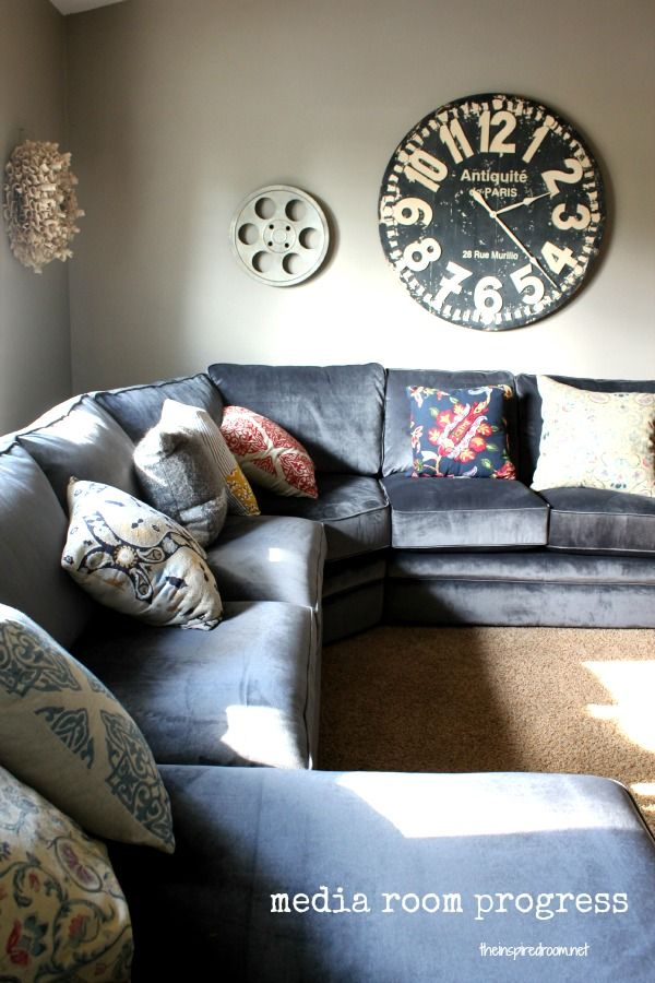 {Fall Nesting} Media Room Update! The New Sectional Has Arrived! - The Inspired Room