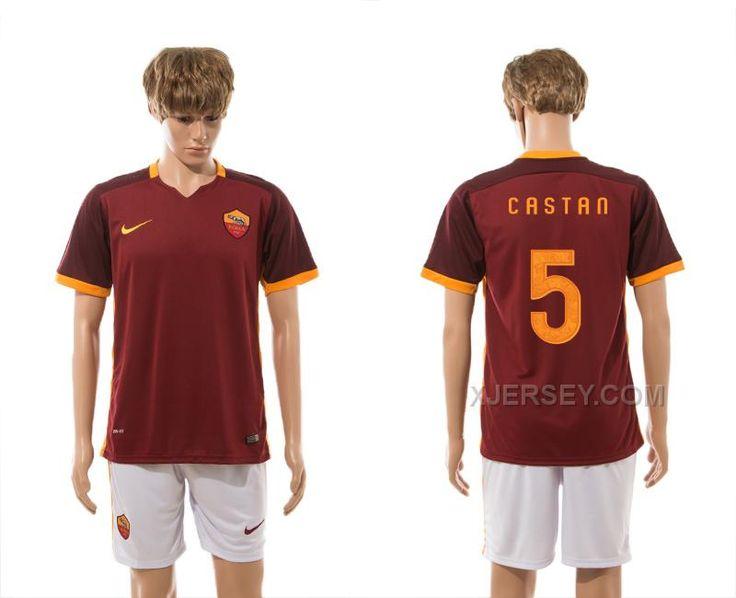 http://www.xjersey.com/201516-rome-5-castan-home-jersey.html 2015-16 ROME 5 CASTAN HOME JERSEY Only $35.00 , Free Shipping!